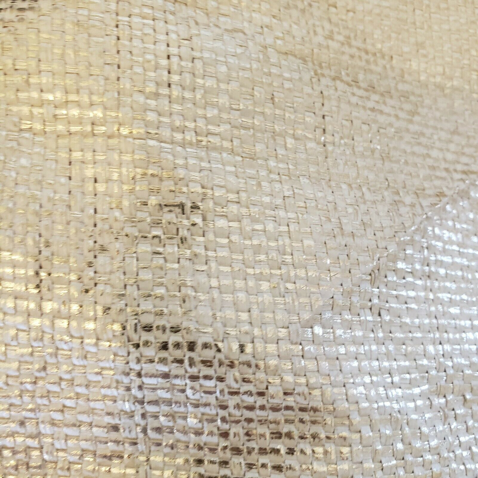 """""""QUEEN"""" Gold woven Lined Large Handbag by """"QUEE… - image 2"""
