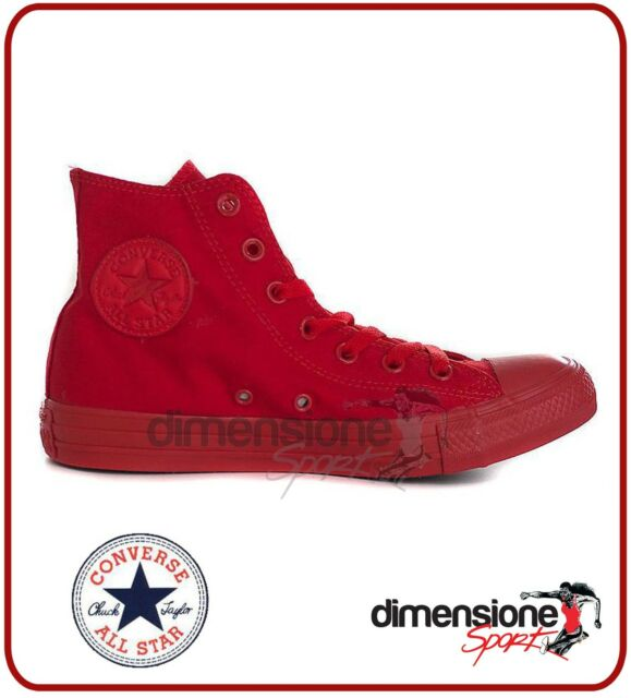 converse all star alte rosse donna
