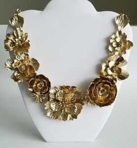 Oscar De La Renta Bold Flower Statement Necklace MmF6r6Wp