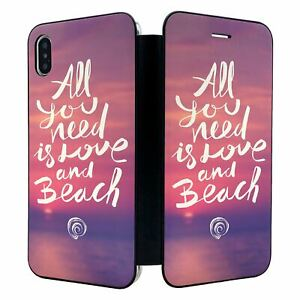 iPhone-XS-MAX-Full-Flip-Wallet-Case-Cover-Summer-Beach-Pink-S1926