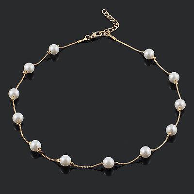 Hot Sale Charm Pearl Choker Chunky Statement Bib Necklace Jewelry Chain Pendant