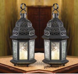 20 BLACK CLEAR Moroccan shabby Candle holder pierced lantern wedding centerpiece