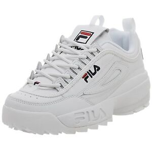 50a83096c852 Image is loading Men-Fila-Disruptor-II-Synthetic-Fw01655-111-White-