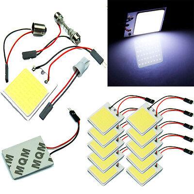 48 SMD COB LED T10 4W 12V Light Car Interior Panel Lights Dome Lamp Bulb+Parts