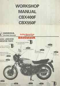 genuine honda cbx550f 1982 on factory work shop manual cbx 400 550 rh ebay com