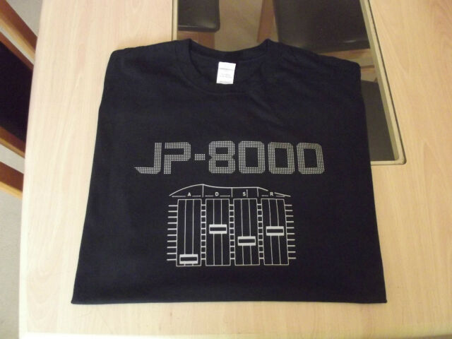 RETRO SYNTH T SHIRT SYNTHESIZER DESIGN JP 8000 S M L XL XXL