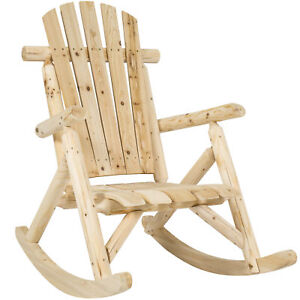 Best Choice Products Wooden Rocking Chair Natural