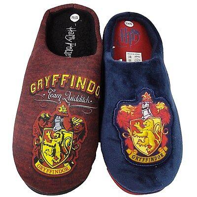 Aktiv Mens Harry Potter Slippers Novelty Cushioned Slip On Mule Gents Gryffindor