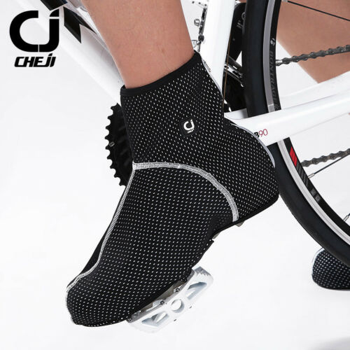 CHEJI Fleece Cycling Shoe Cover Thermal Winter Bicycle Overshoes Waterproof
