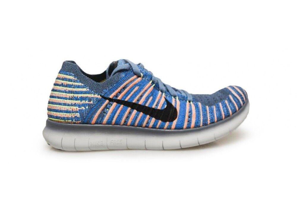 Juniors Nike Free rn Azul Flyknit GS - 834362 402-Costa Azul rn Blanco Zapatillas 6d5415