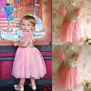 Girls-Toddler-Baby-Tutu-Dress-Princess-Sequin-Party-Birthday-Pageant-Kids-Dress
