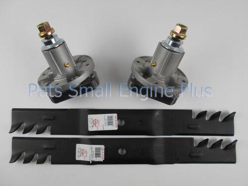 """John Deere 42/"""" Lawn Mower Blade Spindle /& Mulching Blade Set L111 L118 L120 L130"""