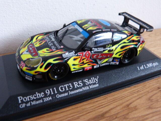 Porsche 911 996 GT3 RS Sally GP de Miami VOITURES Minichamps Modèle 1 43
