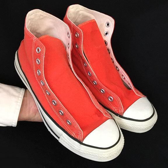 Vintage USAhecho Converse All  Star Chuck Taylor Zapatos  All naranja, Ver Video cbec9a