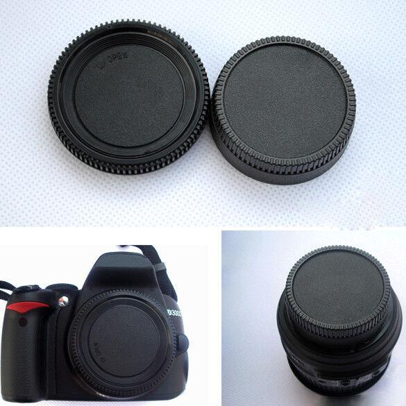 Universal Rear Lens Cover+Camera Body Cap For All Nikon AF AF-S DSLR Lens Camera