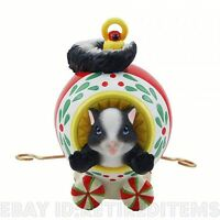 Laughter Decorates... Charming Tails Skunk Ornament Express Train Car Christmas