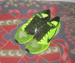 reputable site 1b06b 59626 Image is loading Nike-Flyknit-Racer-Volt-Green-White-HTM-Sample-