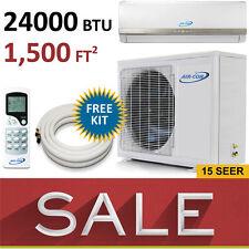 24000 BTU Ductless Mini Split Air Conditioner AC Heat Pump 2 Ton New AirCon