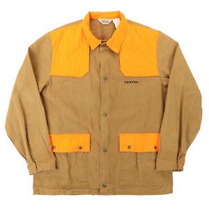 VTG Walls Men XL 54 Centex L/S Snap Button Pheasant Hunting Jacket Padded Orange