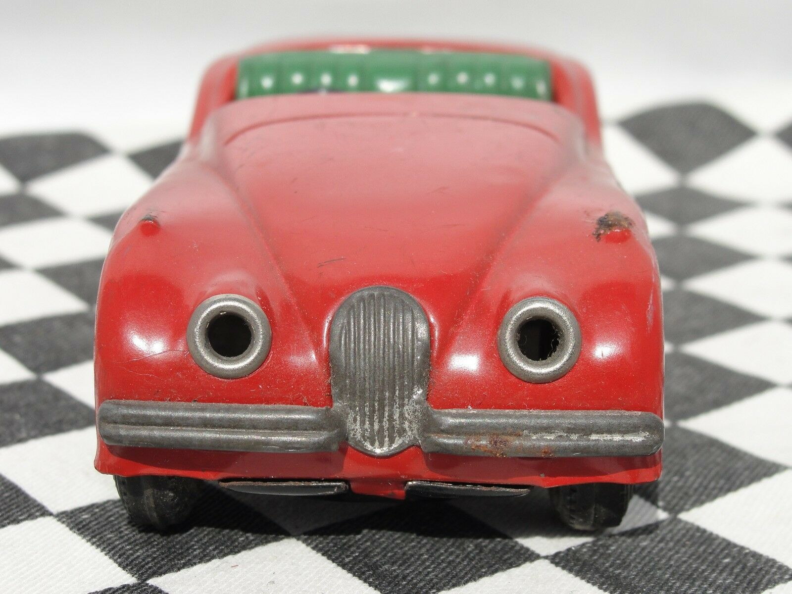 MINIMODELS 1950'S TINPLATE JAGUAR XK120 XK120 XK120  RED USED UNBOXED c264d1