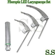Mccoy Flexi Tip Fiberoptic Led Laryngoscope Set Blade 2 3 4 Medium Han Fl 003