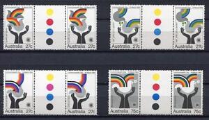 40649-Australia-1983-MNH-Commonwealth-Day-4v-Gutter-Pair