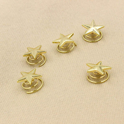 Fashion Women Hot Lovely Star Gold Swirl Hair Pins Clip Hairpin Barrettes GiftWB