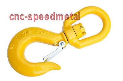 2t Haken mit drehbarer Öse Lasthaken Sicherheitshaken 2000kg drehbar gelb 00527