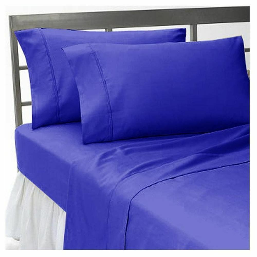 Deep Pkt Duvet Set+Fitted All Size Egy bluee 1000 Thread Count Egyptian Cotton