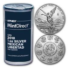 2018 Mexico 1 oz Silver Libertad (25-Coin MintDirect® Tube) - SKU#150008