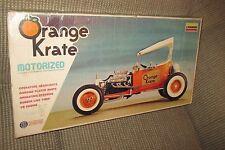 New Old Stock Lindberg Kit #681M Orange Krate Motorized 1/8 Scale