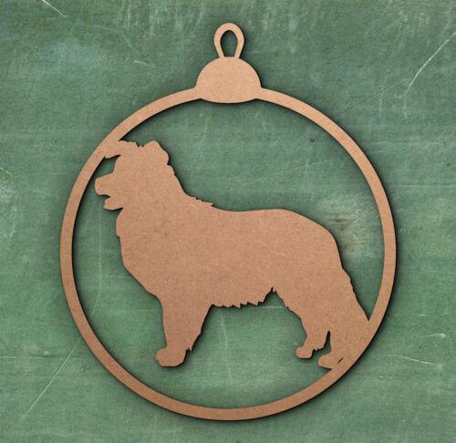 Birthday Tag Christmas Dog Border Collie Tree Bauble Decoration Gift Tag