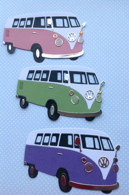 VW Camper Van Die Cuts x 3