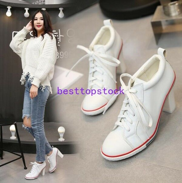 Women Formal Formal Formal Casual Leather Kitten Heel Sneaker Strappy Round Toe Loafers Spring ccd5e8