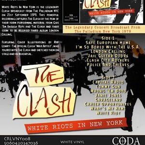 THE-CLASH-White-Riots-In-New-York-white-vinyl-lp-CODA-CRLVNY008-live-rare-punk