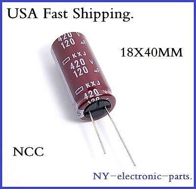 120UF 420V NCC RADIAL ELECTROLYTIC CAPACITOR.KXJ.18X40MM.1PIECE