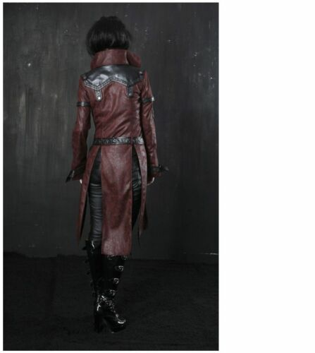 NEW PUNK Rave Gothic Metal Vampire Jacket Coat Y261 Red ALL STOCK IN AUSTRALIA