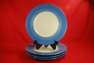Paula-Deen-SOUTHERN-GATHERING-BLUEBELL-Dinner-Plates-Set-of-4-11-1-4-034-Blue