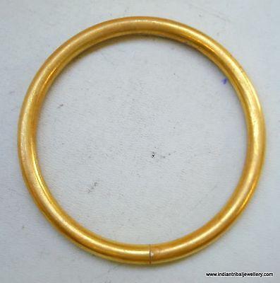 traditional design 22k gold Bracelet Bangle plain Rajasthan India