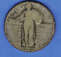 1929 P  STANDING LIBERTY SILVER QUARTER US COIN ........SA115
