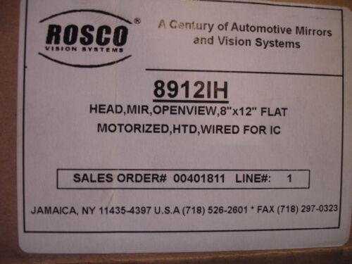 "8912IH ROSCO HEATED MOTORIZED HEATED CONVEX 8/"" X 12/"" INTERNATIONAL BUS MIRROR"