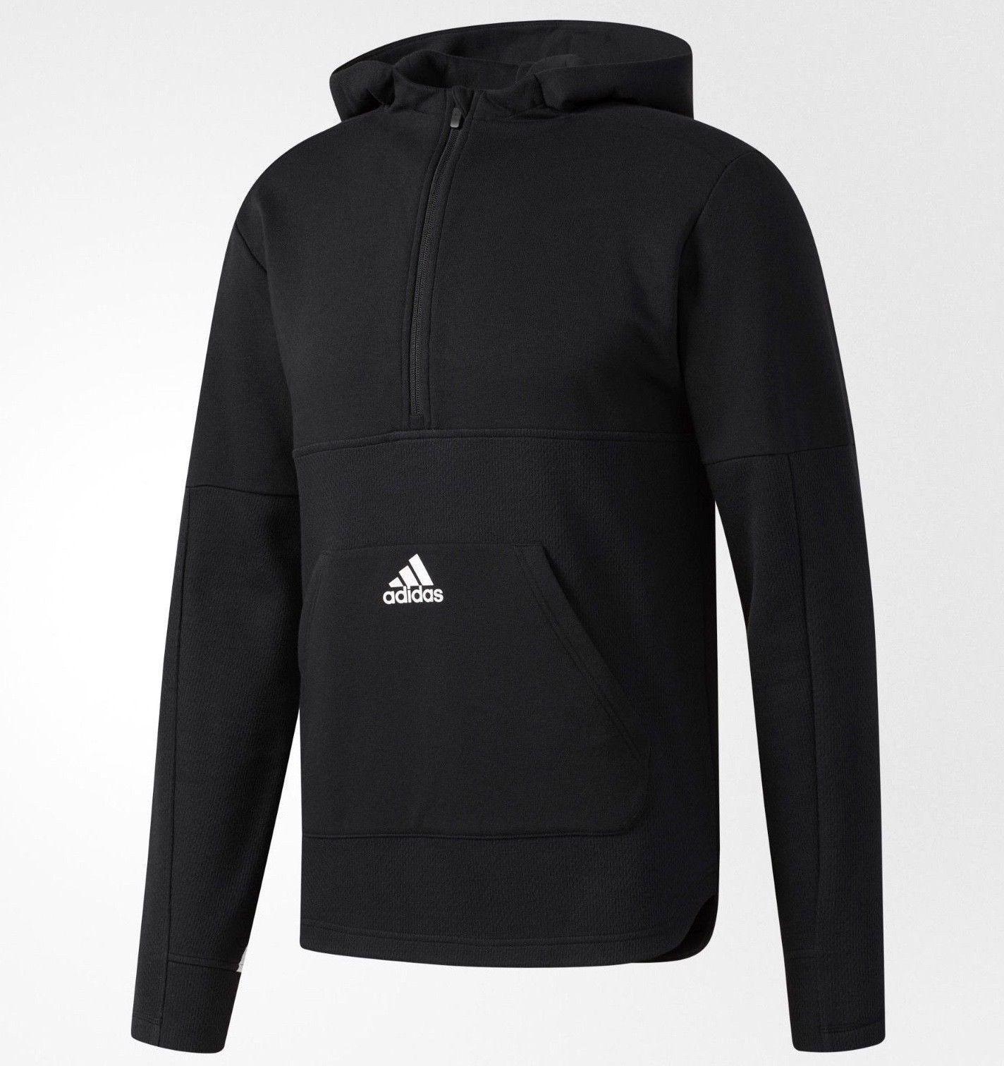 Adidas PostJuego Polar Media Cremallera Hombre Sudadera con Capucha blancoo  y  venta con alto descuento