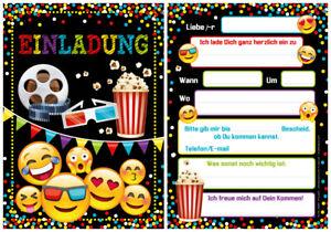 12 einladungskarten einladungen kindergeburtstag kino