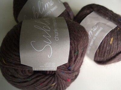 .. 80/% Merino sin P/&P!!! 4 X 50g grueso Merino Tweed Sublime