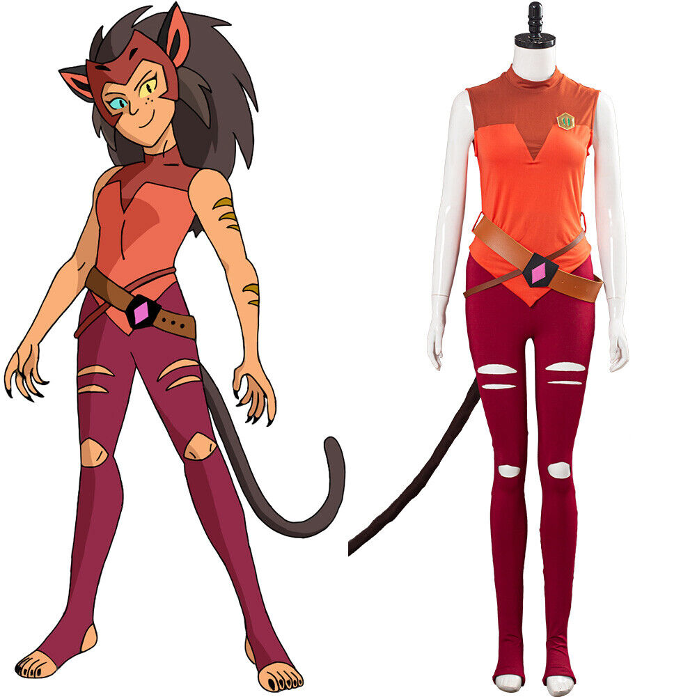 She-Ra and the Princesses of Power Cosplay Catra Costume Uniform Outfit