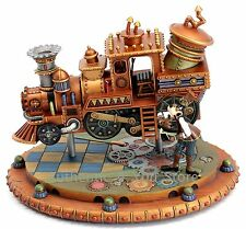 NEW Disney Parks Mechanical Kingdom Steampunk Goofy Train Light-Up Figurine