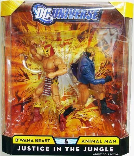 Mattel ANIMAL MAN B'WANA BEAST JUSTICE JUNGLE dc universe súperheroes classics