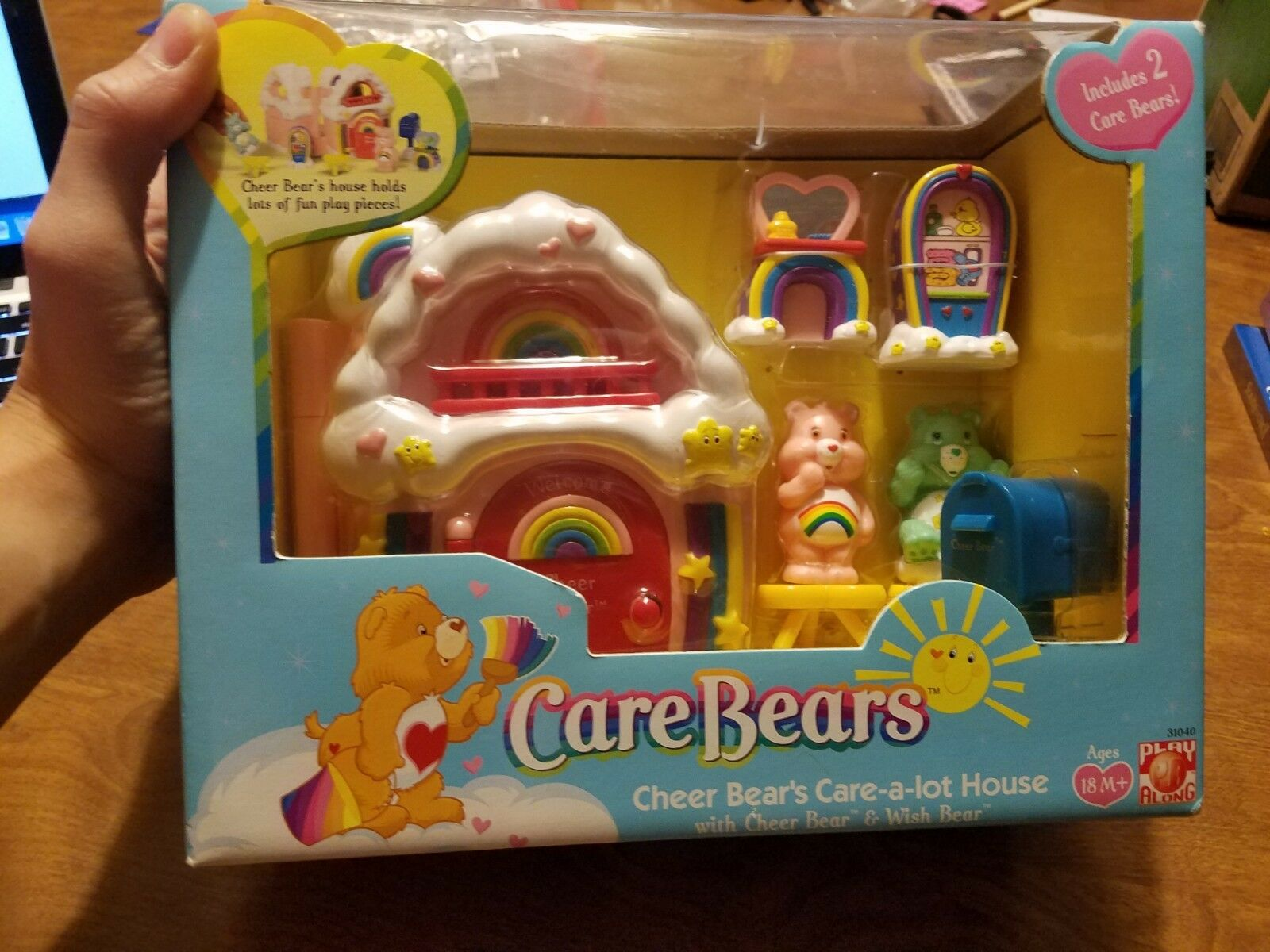 voituree Bears Playset Cheer Bear's voituree-a-Masse haus with Cheer Bear & Wish Bear NEW