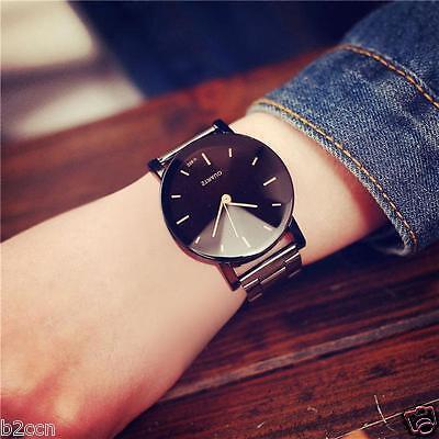 Fashion Men Watch Women Stainless Steel Band Quartz Analog Lovers Wrist Watches