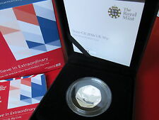 MINT CONDITION Team GB 2016 UK 50p Silver Proof Piedfort Coin COA and Case